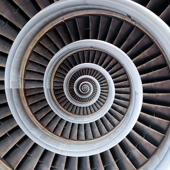 Air plane engine spiral abstract background.