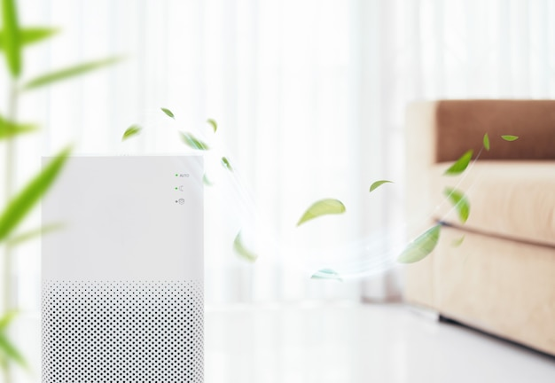 Air purifier with filter for cleaner removing fine dust
