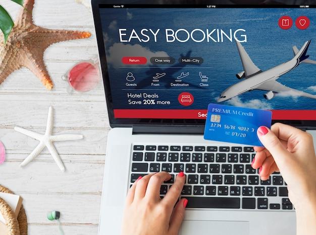航空券のフライト予約のコンセプト