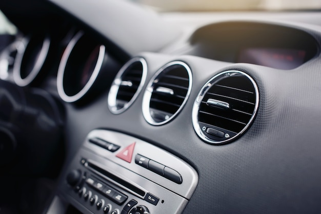 Air vent grill, conditioner system in modern car