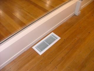 Air vent in wooden floor