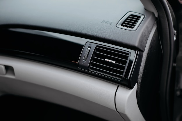 Air ventilation air conditioning next to the grille panel