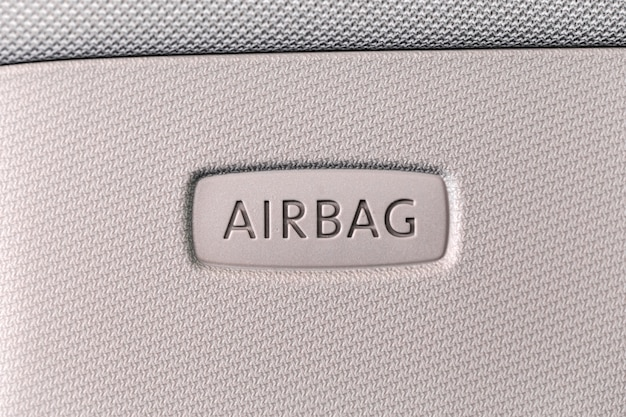 Airbag sign in car. car safety concept.