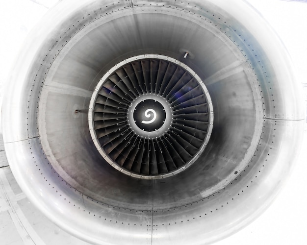The aircraft engine near the repair, inspection blades of the blade