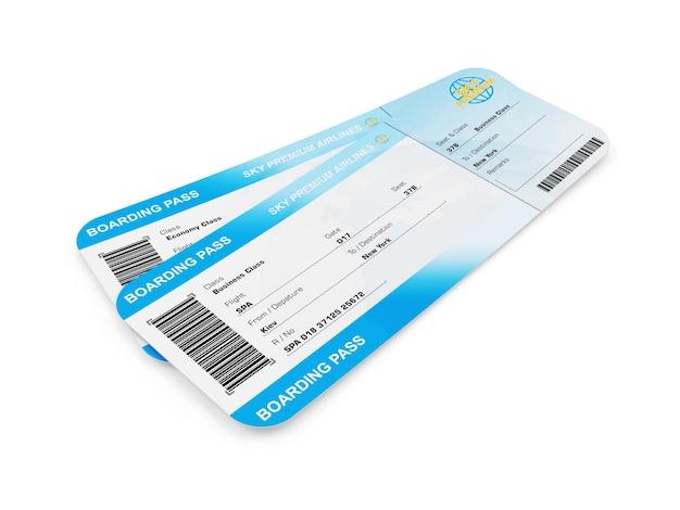 Билеты на посадочный талон на самолет