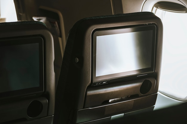Airline in-flight entertainment screen