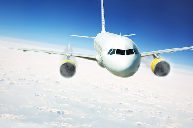 飛行中の旅客機