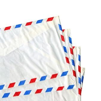 航空便の手紙の封筒が分離されました