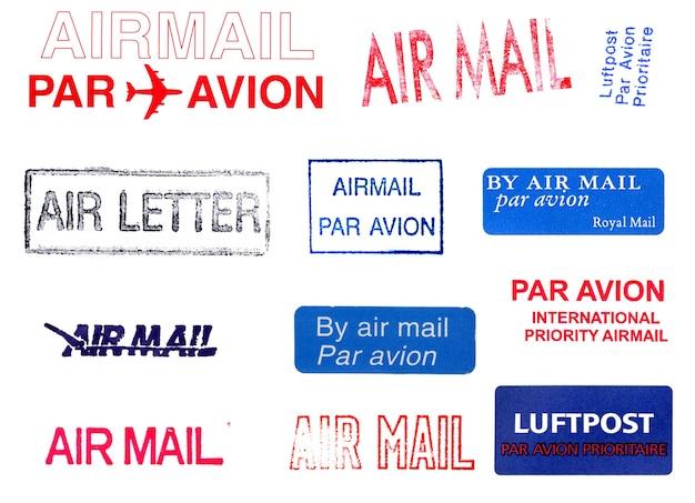 航空便の郵便料金メーター