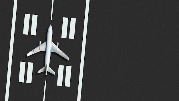 Airplane concept on the runway
