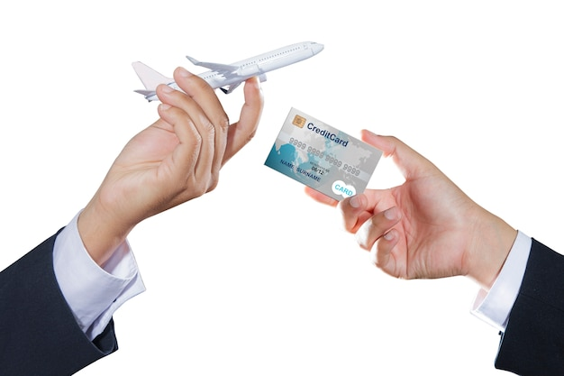 Airplane and credit card