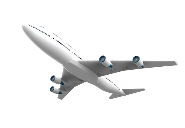 Airplane isolated isolated on white