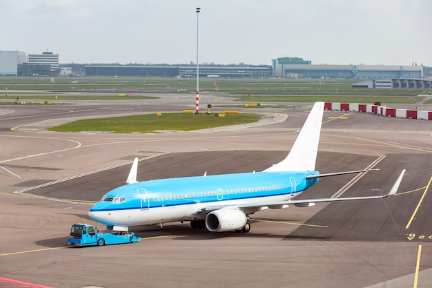 Airplane ready to takeoff