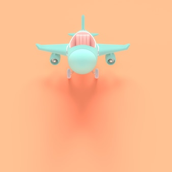 Airplane toy blue pastel color