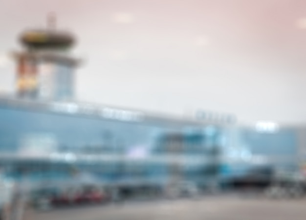Airport  blurred