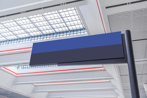 Airport station information screen