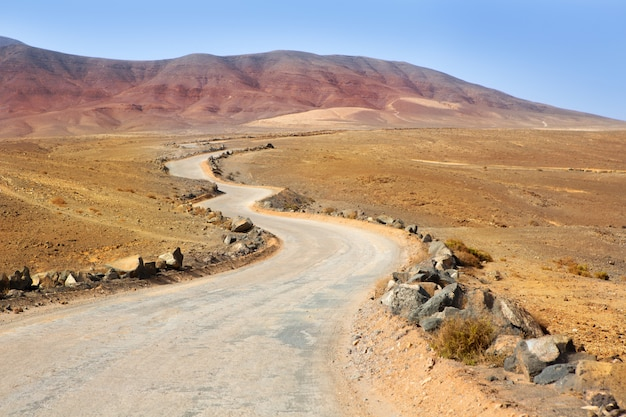 Ajaches mountain in lanzarote punta papagayo