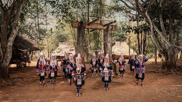 アカ族の村、北タイのチェンライ県。