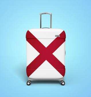 Alabama flag suitcase - vacation