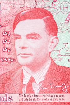 Alan turing a portrait from english money