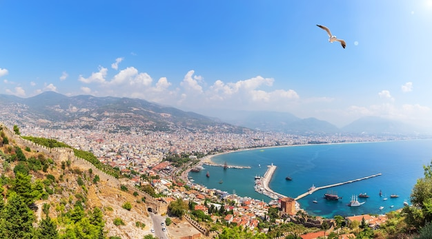 Alanya port in the harbour, turkey