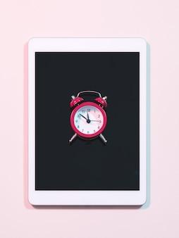 알람 시계 시간 관리 및 소셜 미디어 중독