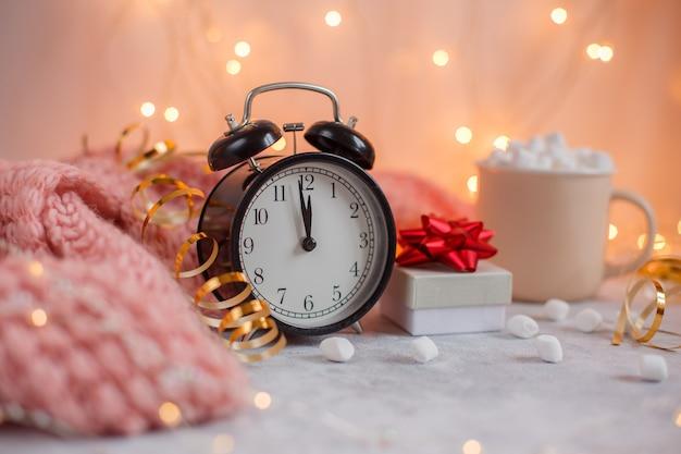 Alarm clock with christmas lights