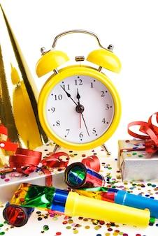 Alarm clock with christmas presents