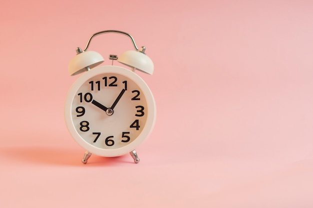 Alarm clock with pink wall