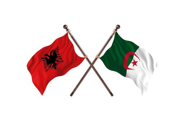 알바니아 대 알제리 two flags