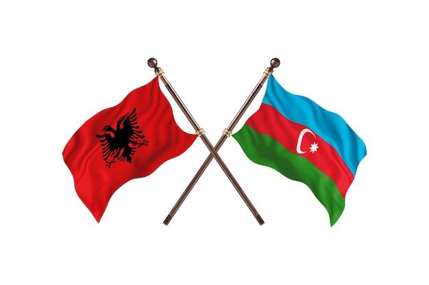 알바니아 대 아제르바이잔 two flags