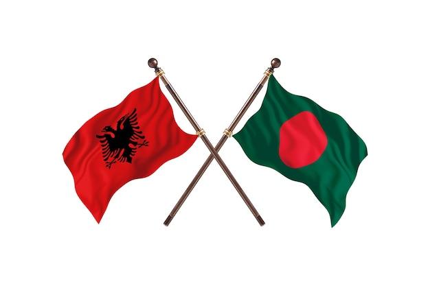 알바니아 대 방글라데시 two flags