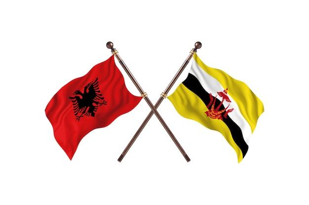 알바니아 대 브루나이 two flags