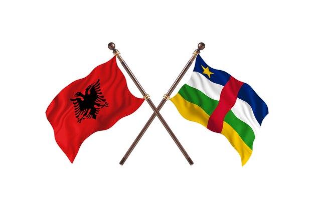 알바니아 대 중앙아프리카공화국 투 플래그