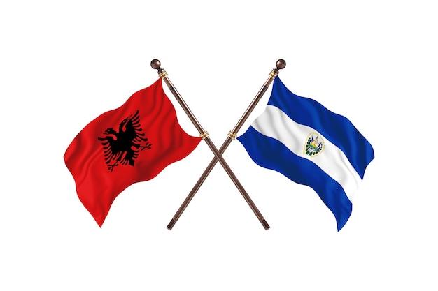Albania versus el salvador two flags
