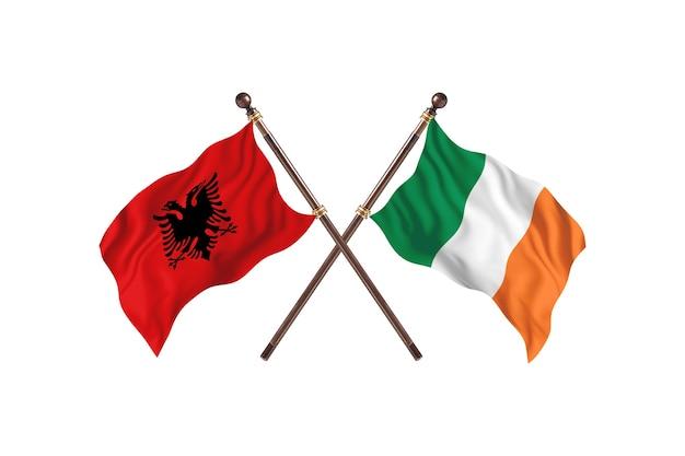Albania versus ireland two flags