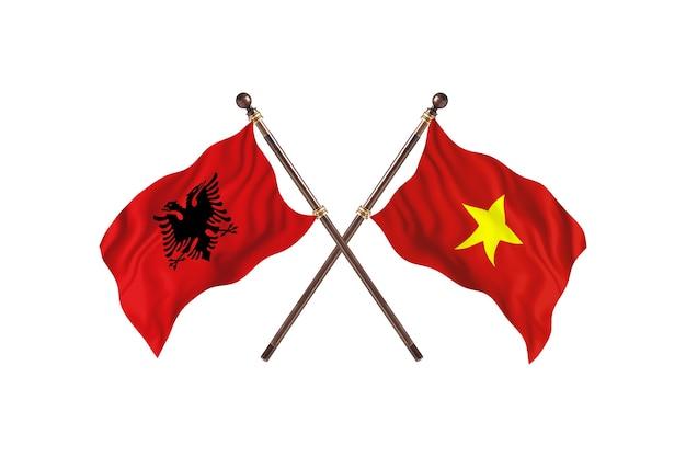 Albania versus vietnam two flags