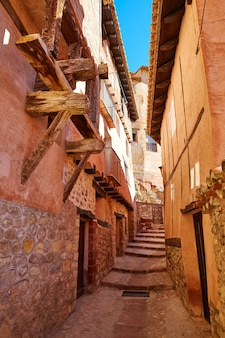 Albarracin medieval town at teruel spain
