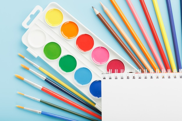 Album for drawing and creativity for school