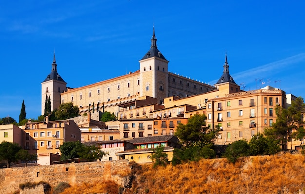 Alcazar of toledo in sunny summer day