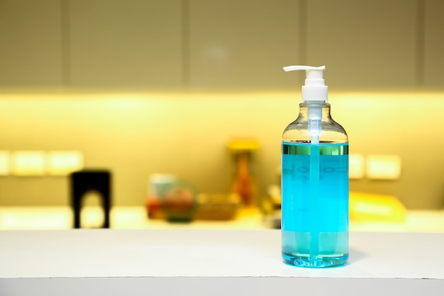 Alcohol gel for washing hands to protect against coronavirus or covid-19.