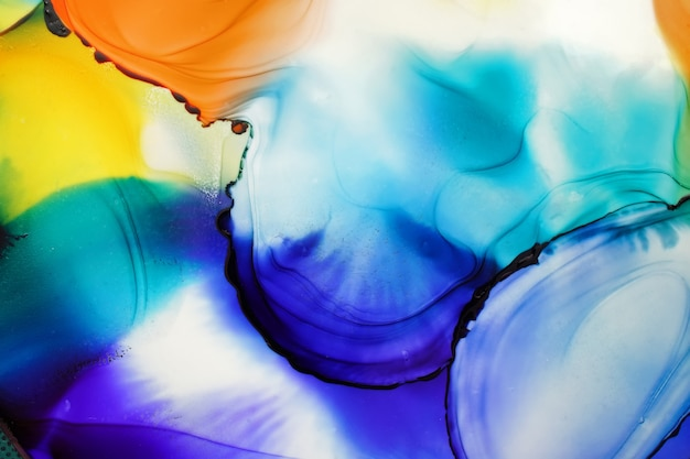 Alcohol ink abstract background