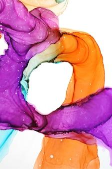Абстрактная текстура спиртовых чернил, часть оригинальной картины