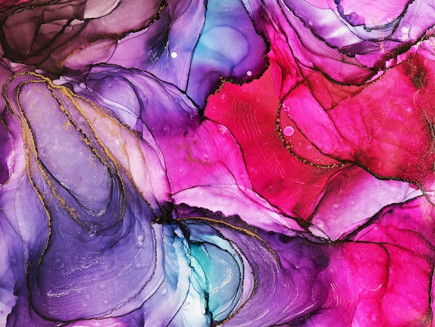 Alcohol ink abstract texture, part of original painting