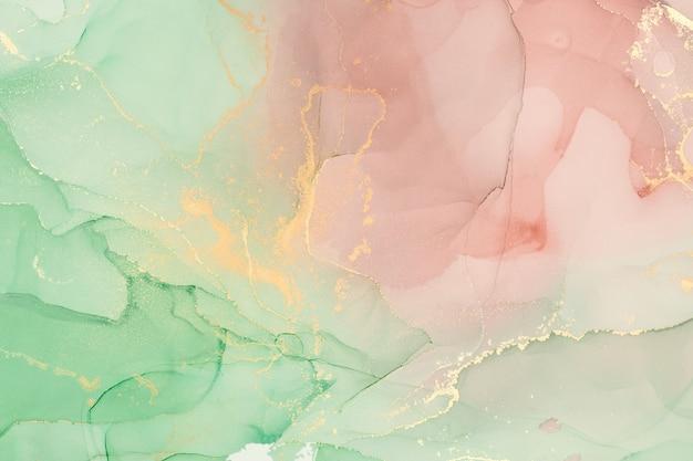 알코올 잉크 색상은 반투명합니다. 추상적인 색된 대리석 질감 배경입니다. 디자인 포장지, 벽지. 아크릴 물감 혼합. 현대 유체 예술. 알코올 잉크 패턴