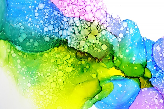 Alcohol ink painting abstract background