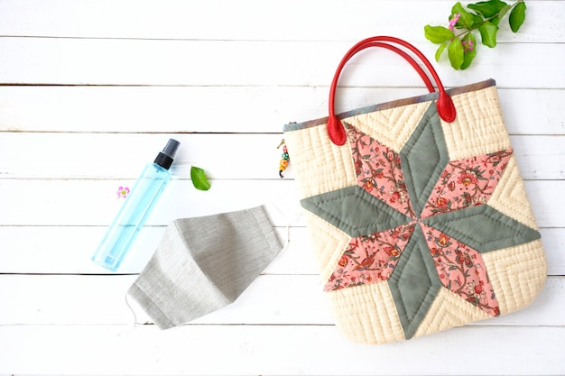 Alcohol mask, cloth bag for outside use during the covid virus