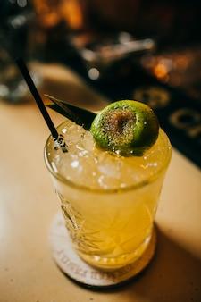 Alcohol tequila sunrise or margarita cocktail