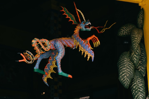 幻想的な動物のalebrijeメキシコの工芸品