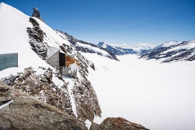 Aletsch氷河の景色、ユングフラウヨッホ、スイス